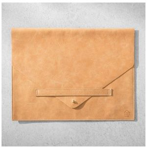 Hearth Hand Leather Laptop Sleeve Bag Case NEW